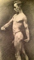 Life drawing, male by HenDeHauke