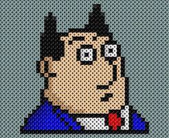 Boss perler beads by drsparc