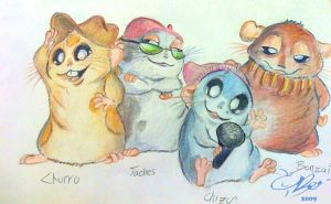 The New Hamster Dance gang by Beeju