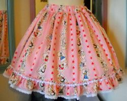 Alice In Wonderland Skirt by spookydarling