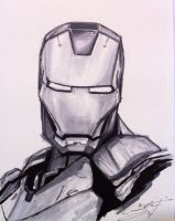 Iron Man Sketch by CRSLozada