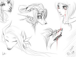 some beth's sketches. by irriss