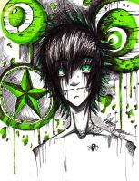 Toxic green Infatuation by GhoulishChan