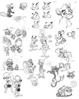 January 2014 Pencil Sketches by dodgyrommer