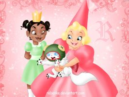 Tiana and Charlotte disney by rebenke