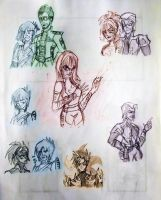 DB:BG Character Sketches by Cruzerchic123