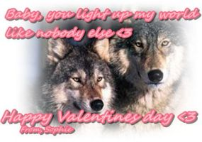 Happy Valentines day to all my friends :) by brindlecatt