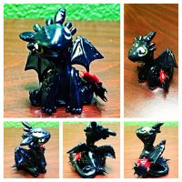 Toothless Nightfury Dragon by LittleCLUUs