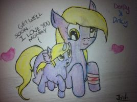 Derpy and Dinky by Jonah-yeoj
