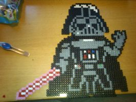 Darth Vader - Hama or Perler by Chrisbeeblack