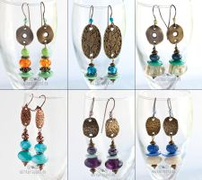 Lampwork glass earrings by ukapala