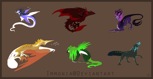 Design Sheet Commish Crowlets by Immonia