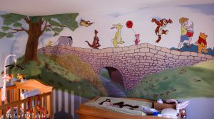 Pooh and his friends -Mural Commission by bostonb63