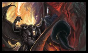 Gandalf VS Balrog by MrHarp