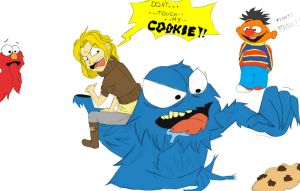 max vs cookie monster by sophie93