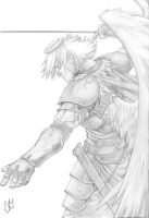 Winged Knight by arcais