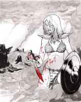 Red Sonja Ink+Blood by Arciah