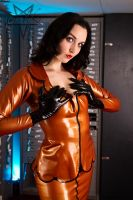 Bank staff in Latex 05 by GuldorPhotography