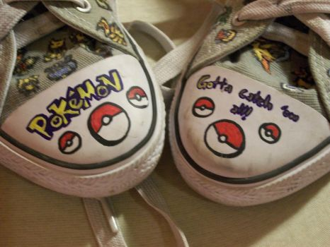 Custom Pokemon Shoes by DeannaDerpDonut