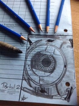 Little Space Core From Portal 2 by T4coCat
