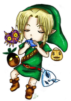 Chibi Link Majora's Mask by leziith