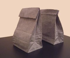 Paper sack bookend by jiyuseki