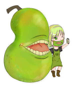 Biting Pear's Selfie by Cacaa-chan