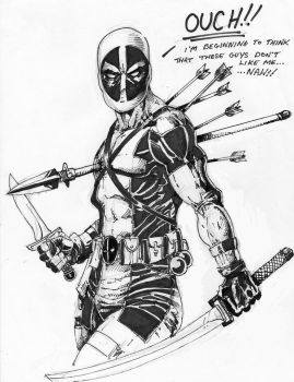 Deadpool Ouch by PM-Graphix