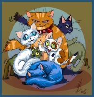 the cats by BryttKrou