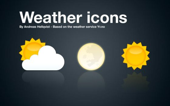 Weather icons for use with YR.no by Andreas-Hellqvist