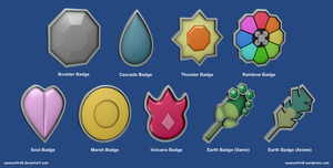 Pokemon Badges - Indigo League by seancantrell