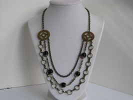 Steampunk Chandelier Necklace with Vintage Grandfa by bcainspirations