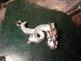 chinese dragon silver by Debals