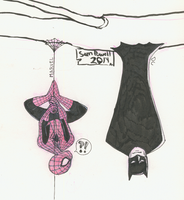 Sketch Dailies: Batman and..spiderman? by sampdesigns