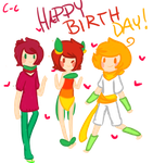 Happy late birthday buddy! 1 by Cookie-Cakes