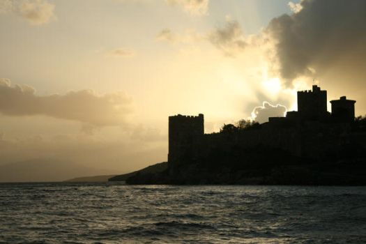 Bodrum Fortress Silhouette by maharshi