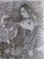 Women With Violin by AngelTimi88