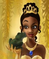 Princess Tiana and the Frog by erykh