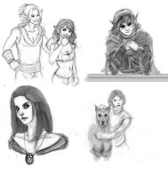 TES universe OC sketches by UninvitedChaos