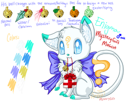 Enigma, MysteryGift Mascot by Eevie-chu