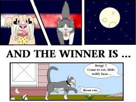 Cat vs. dog by Cellas