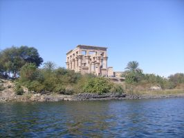 Temple of Isis from Nile River by Morethantoday