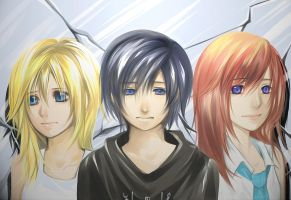 Kairi, Namine and Xion by Marimari999