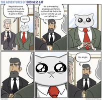 The Adventures of Business Cat - Negotiations by tomfonder