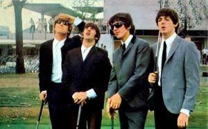 The Beatles Golfing by Chibimiii