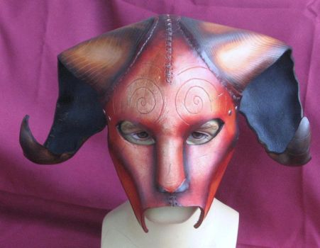 Leather Faun Mask by OneEyedGimp