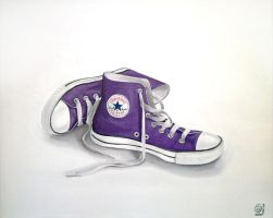 Purple Converse Shoes by CintiaGonzalvez