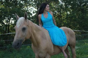 Blue Dress 10 by Equus-Stock