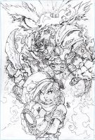 Battle chasers Pencils by thiagozero