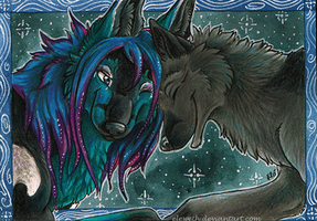 ACEO: Under starry night by Eleweth
